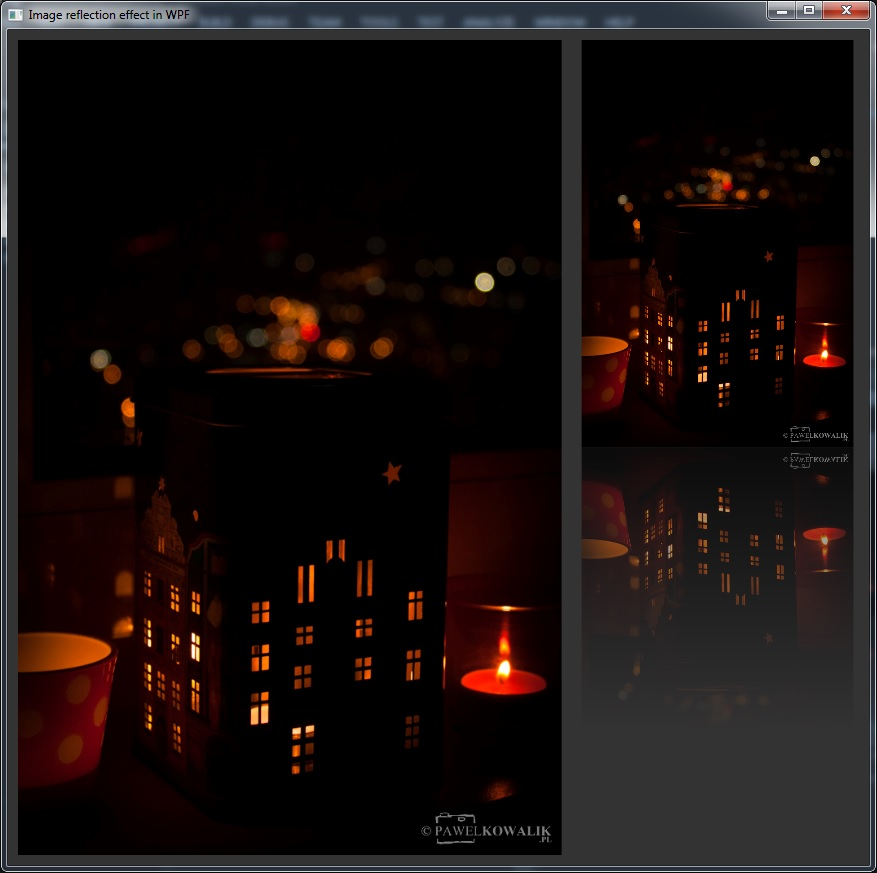 Image reflection effect in WPF | Creyn
